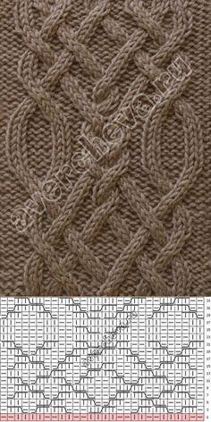 Crochet Beret Pattern, Crochet Infinity Scarf Pattern, Cable Knitting Patterns, Knitting Stiches, Knitting Charts, Lace Knitting, Knitting Designs, Knit Patterns, Stitch Patterns