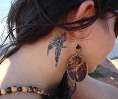 amazing neck tattoo design