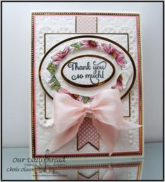Our Daily Bread Designs, Daisy,  With Much Thanks, Double Stitched Rectangle dies, Ovals dies, Stitched Ovals dies, Elegant Ovals dies, Pennant Dies, Flourished Star Pattern dies, Layered Lacey Squares dies, Pastel Paper Pack, designed by Chris Olsen