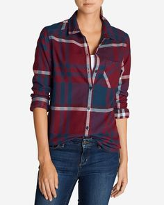 Women's Stine's Favorite Flannel Shirt - One-pocket Boyfriend | Eddie Bauer