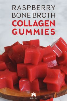 Raspberry Bone Broth Collagen Gummies Powered by bone broth and sweetened with only natural sugars, these little collagen gummies are a cinch to make pack a nutritious punch with each bite. Healthy Snacks, Healthy Eating, Healthy Recipes, Healthy Kids, Gelatin Recipes, Macaron, Scones, Cookies Et Biscuits, Trifle