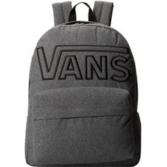 Vans Old Skool II Backpack featuring polyvore, men's fashion, men's bags, men's backpacks, backpacks and suiting