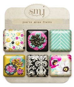 You're Mine Flairs | Shabby Miss Jenn Designs