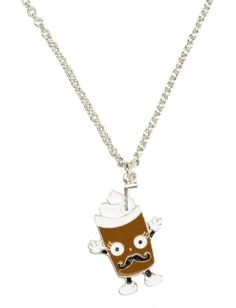 Jusice jewelry for girls | Mustache Milkshake Necklace | Girls Necklaces Jewelry | Shop Justice