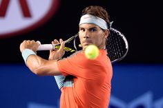Rafael Nadal, 2R, 16 January 2014 - Ben Solomon/Tennis Australia. Official Site by IBM, Australian Open Tennis Championships 2014.