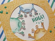 Stampin' Up! Yummy In My Tummy, Here For You and Party Animal Designer Paper for an International Blog Highlight. Debbie Henderson, Debbie's Designs. #stampinup #debbiehenderson #debbiesdesigns #partyanimal #yummyinmytummy #hereforyou