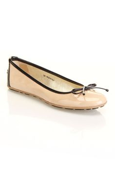 Jimmy Choo Walsh Flat In Nude And Black