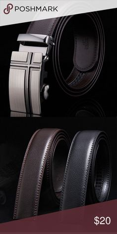 ⚜️Brown Leather Belt⚜️ Awesome brown leather belt with classy stainless steel buckle. Belt can be adjusted to just about any size for comfortable fit. Accessories Belts