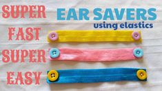 Quick and Easy Ear Saver, Ear Protector, Adapter for Face Masks Using El. Quick and Easy Ear Saver, Ear Protector, Adapter for Face Masks Using El. Easy Face Masks, Diy Face Mask, Diy Headband, Headbands, Sewing Hacks, Sewing Projects, Sewing Ideas, Pin On, Quilt Sizes