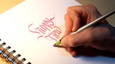 Parallel Pen Calligraphy - Happy New Year by Thomas Brunton