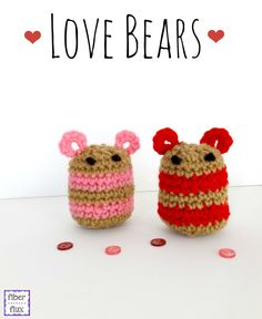 Love Bears, free crochet pattern from Fiber Flux