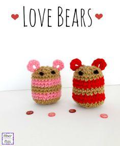 Love Bears, free crochet pattern from Fiber Flux