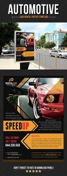 Rent A Car Flyer Flyer template, Template and Print templates - car ad template