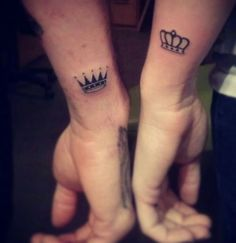 King and Queen Crown Tattoos for Couples - Best Tattoo Ideas