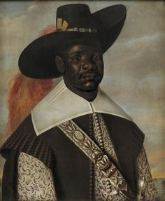 Don Miguel de Castro, Emissary of Congo (c. 1643-50, painted by Albert Eckhout). In 1643 or 44, de Castro arrived in the Netherlands as an emissary of the ruler of Sonho, a province of Congo, via Brazil. One objective of the journey was to find a resolution to an internal conflict in Congo. He is shown dressed in high Portuguese fashion, and portraits were also painted of two of his servants/ companions.