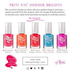 Summertime with Pritinyc Purple Dahlia, Nail Polish Kits, Summertime, Cosmetics, Nails, Finger Nails, Ongles, Nail, Nail Manicure