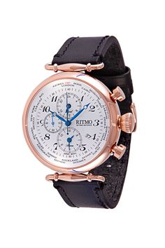 World Time 46mm Stainless Steel and Rose Gold Multi Function Chronograph