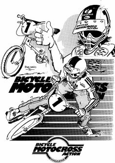 Page 2 of 2 - The offical Bob Haro artwork thread - posted in Riding, Research & Collecting: Bicycle Motocross Action, April 1980 Motocross Action, Vintage Bmx Bikes, Bmx Racing, Bmx Freestyle, Bmx Bicycle, Windsurfing, Cycling Art, Bike Art, Old School