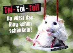 Postkarte mit lustigen Sprüchen – Toi Toi Toi! Du wirst das Ding schon…