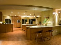 kitchen color over all with warm floor