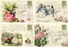 INSTANT DOWNLOAD diGiTal CollAge Sheet ShABBy ChiC RoSeS by bitmap