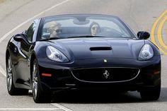 Ellen Degeneres in a Ferrari California