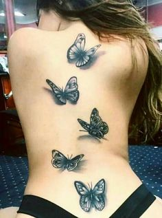 74 Very Beautiful Butterfly Tattoo Designs that You'll Amazed Back Tattoos, Hot Tattoos, Great Tattoos, Life Tattoos, Unique Tattoos, Beautiful Tattoos, Body Art Tattoos, Sleeve Tattoos, Tatoos