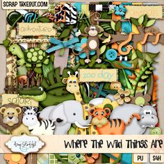 Where the Wild Things Are by Amy Stoffel at @Scrap Takeout (www.scraptakeout.com) #digi #digital #scrapbook #scrapbooking  This kit will be great for my pictures from the Bronx Zoo!