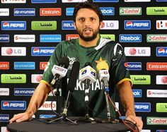 Shahid Afridi at a media session in Colombo ahead of the World Twenty20. DONT TAKE ADVERTISERS TOO SERIOUSLY :)