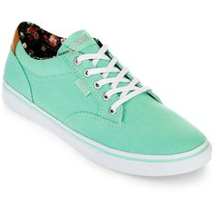 Vans Winston Womens Skate Shoes ($30) ❤ liked on Polyvore featuring shoes, sneakers, mint, vans sneakers, canvas sneakers, mint shoes, vans trainers and mint sneakers