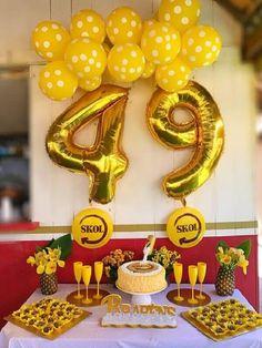 Festa de boteco simples #festadeboteco #decoracaodefesta 40th Birthday, Birthday Parties, Happy Birthday, Beer Fest, Event Organization, Party Cakes, Birthday Decorations, Birthday Candles, Tea Party