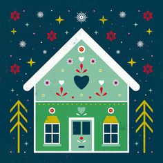 Carly Watts Art & Illustration: Gingerbread House
