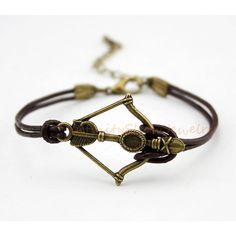 Arrow Bracelet, Arrow, Bow and Arrow, Bow, To Infinity and Beyond, Wax... ($1.59) ❤ liked on Polyvore featuring jewelry, bracelets, bow bangle, graduation gift jewelry, leather cord jewelry, infinity bangle and graduation charms