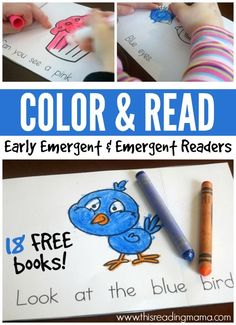 Color and Read Emergent Readers {Updated and Expanded!}