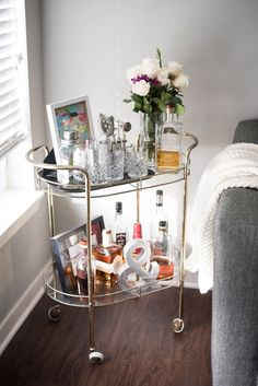 My Thrifted Bar Cart | Happy Apple | Bloglovin'