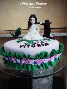 Cake Princess in the garden - Bolo Princesa no jardim