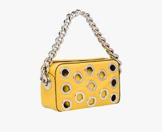 Prada Metal Top Handle Sun Calf Leather Bag w removable pouch -  2 40bf210ff5768
