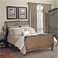 Custom Design Solid Wood Beds Louis XV Wood Bed with Cane Accents by Old Biscayne Designs at Design Interiors
