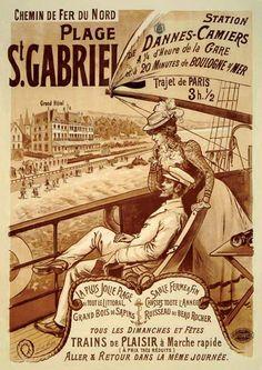 Plage St Gabriel     vers 1900- Département du Pas-de-Calais