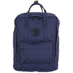 Fjall Raven Women 16l Re-kanken Recycled Backpack ($120) ❤ liked on Polyvore featuring bags, backpacks, midnight blue, zipper bag, top handle bags, zip bag, knapsack bag and fjallraven rucksack