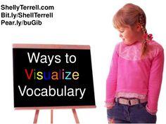 Ways to visualize vocabulary Improve Vocabulary, Teaching Vocabulary, Vocabulary Building, Vocabulary Words, Esl Learning, English Fun, Word Work, Speech And Language, Presentation