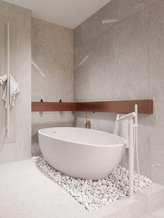 Petite, Precious & Pastel Home Interior (Interior Design Ideas) Modern Shower, Modern Bathroom, Small Bathroom, Modern Bathtub, Home Interior, Decor Interior Design, Interior Decorating, Bathroom Shower Enclosures, Futuristisches Design