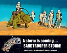 A storm is coming. are you ready for it? Star Wars Action Figures, Star Wars Collection, Dark Side, Baseball Cards, Stars, Studio, Movie Posters, Vintage, Film Poster