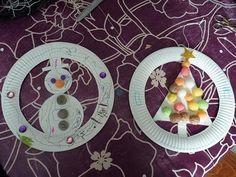 Decoration noel assiette en carton