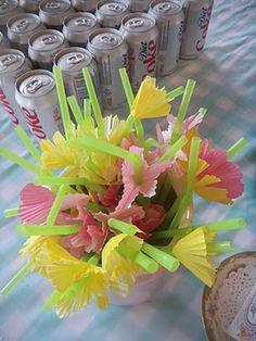 tea, aka DC, & floral straws