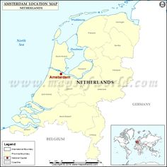 amsterdam is the capital city of netherlands find here amsterdam location on netherlands map along with know interesting facts about the city