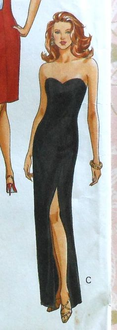 Side Slit Gown Sewing Pattern