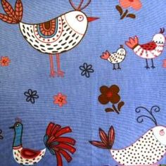 French Hens Cotton Fabric