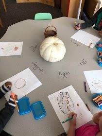 What a lovely scientific provocation. Reggio Emilia, Autumn Activities, Early Childhood, Knowledge, Pumpkin, Inspired, Pumpkins, Infancy, Squash