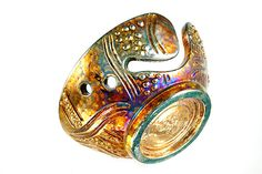 Galina Ceramic Yarn Bowl Raku Pottery YB13212 by CHpottery on Etsy